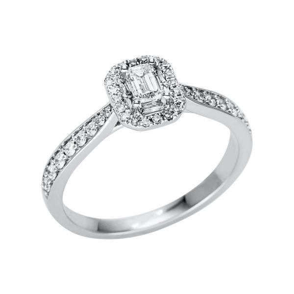 18 kt fehérarany több köves gyűrű 43 gyémánttal 1V414W854-1