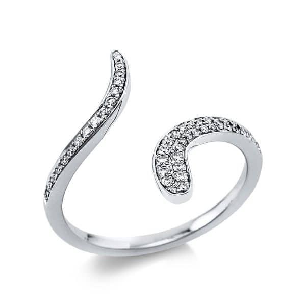 18 kt fehérarany több köves gyűrű 44 gyémánttal 1V469W854-1