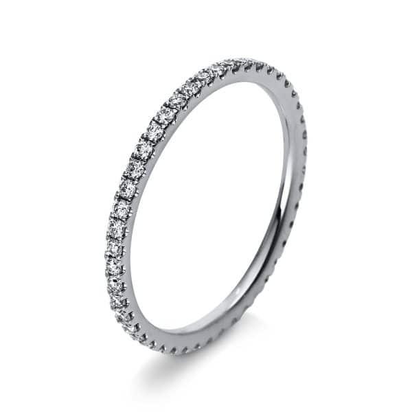 18 kt fehérarany több köves gyűrű 46 gyémánttal 1R902W854-1