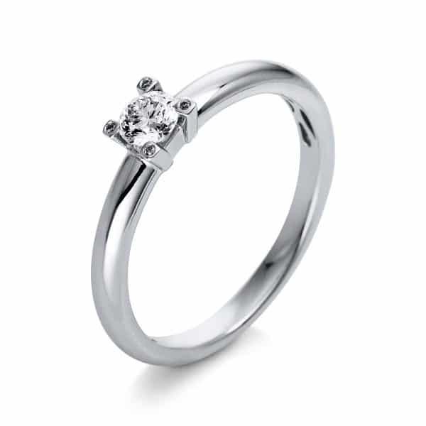 18 kt fehérarany több köves gyűrű 5 gyémánttal 1Q398W854-1