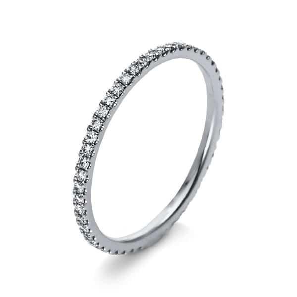 18 kt fehérarany több köves gyűrű 51 gyémánttal 1R901W854-3