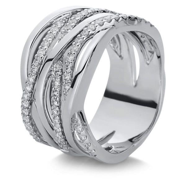 18 kt fehérarany több köves gyűrű 60 gyémánttal 1C008W853-3