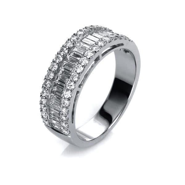 18 kt fehérarany több köves gyűrű 63 gyémánttal 1G176W852-1