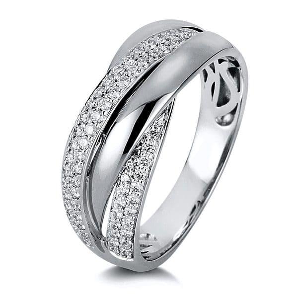 18 kt fehérarany több köves gyűrű 68 gyémánttal 1C000W854-7