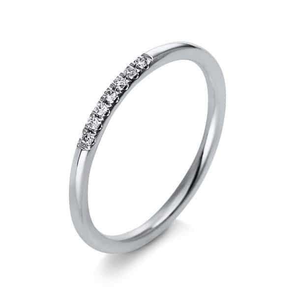 18 kt fehérarany több köves gyűrű 7 gyémánttal 1Q766W854-1