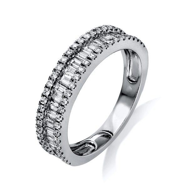 18 kt fehérarany több köves gyűrű 87 gyémánttal 1L248W855-1