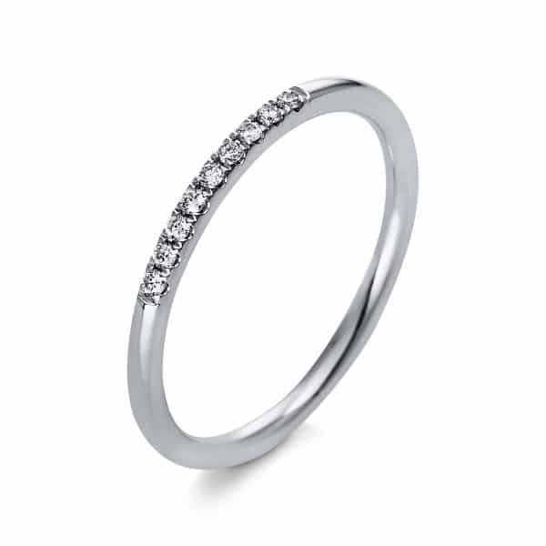 18 kt fehérarany több köves gyűrű 9 gyémánttal 1Q767W854-1