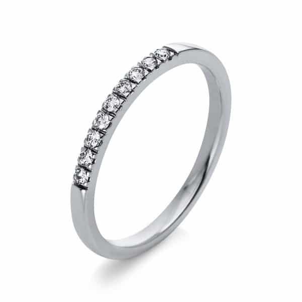 18 kt fehérarany több köves gyűrű 9 gyémánttal 1Q782W854-1