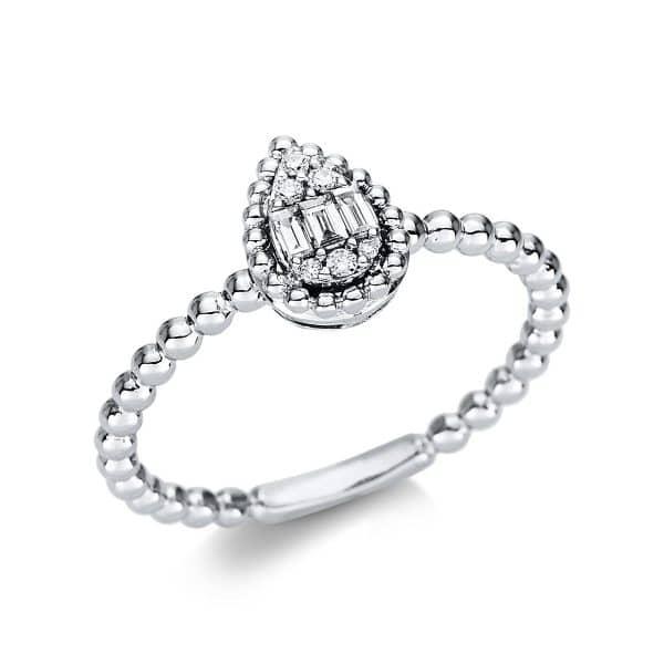 18 kt fehérarany több köves gyűrű 9 gyémánttal 1U634W854-1