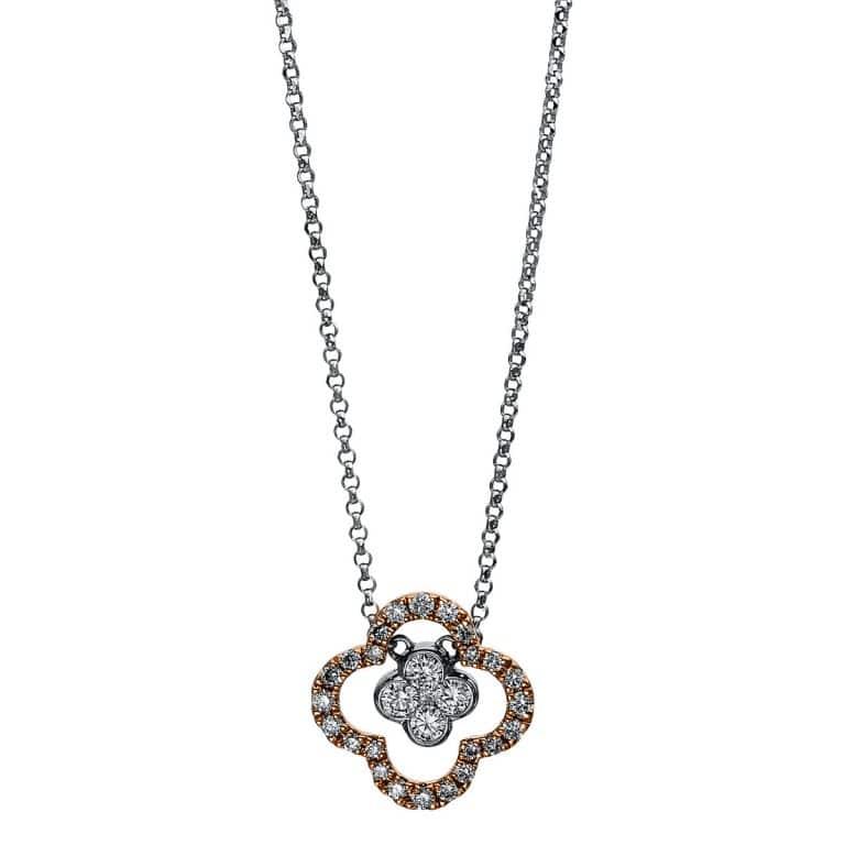 18 kt  nyaklánc 29 gyémánttal 4C901WR8-1