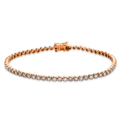 18 kt red gold bracelet with 61 diamonds 5B623R8-1