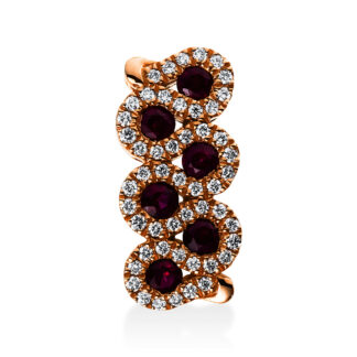 18 kt red gold pendant with 51 diamonds