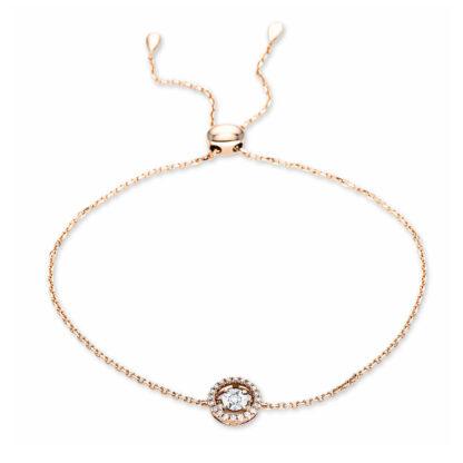 18 kt red gold / white gold bracelet with 21 diamonds 5C028RW8-1