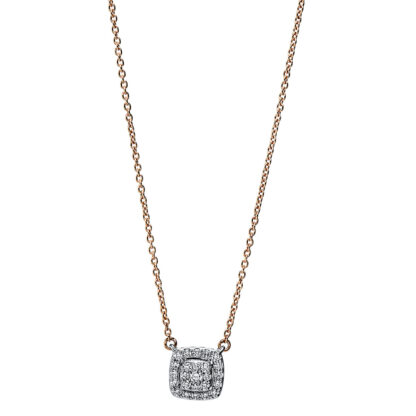 18 kt red gold / white gold necklace with 25 diamonds 4F786RW8-1