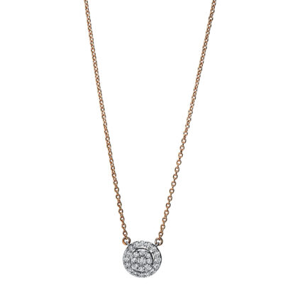 18 kt red gold / white gold necklace with 25 diamonds 4F789RW8-1