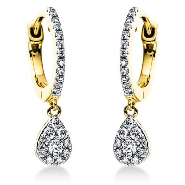 18 kt sárga arany / fehérarany fülbevaló 44 gyémánttal 2J380GW8-1