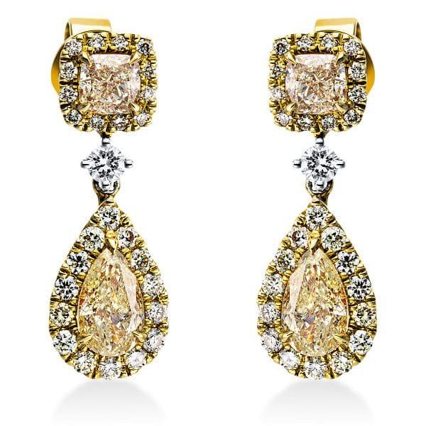 18 kt sárga arany / fehérarany fülbevaló 58 gyémánttal 2J440GW8-1