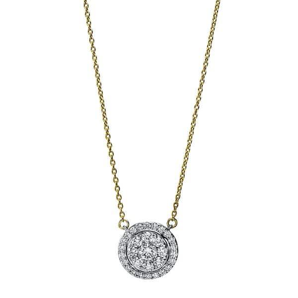 18 kt sárga arany / fehérarany nyaklánc 31 gyémánttal 4F791GW8-1