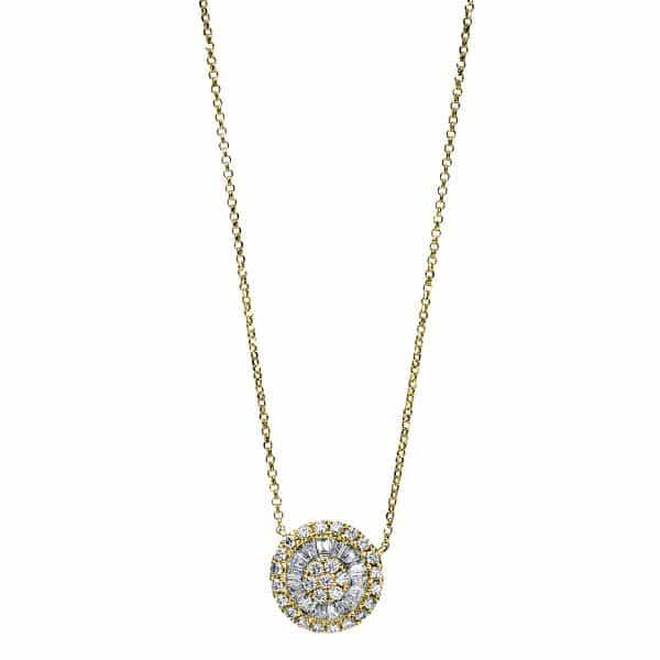 18 kt sárga arany / fehérarany nyaklánc 45 gyémánttal 4F819GW8-1