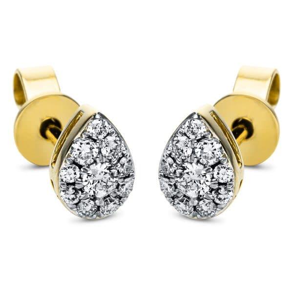 18 kt sárga arany / fehérarany steckeres 20 gyémánttal 2J374GW8-1