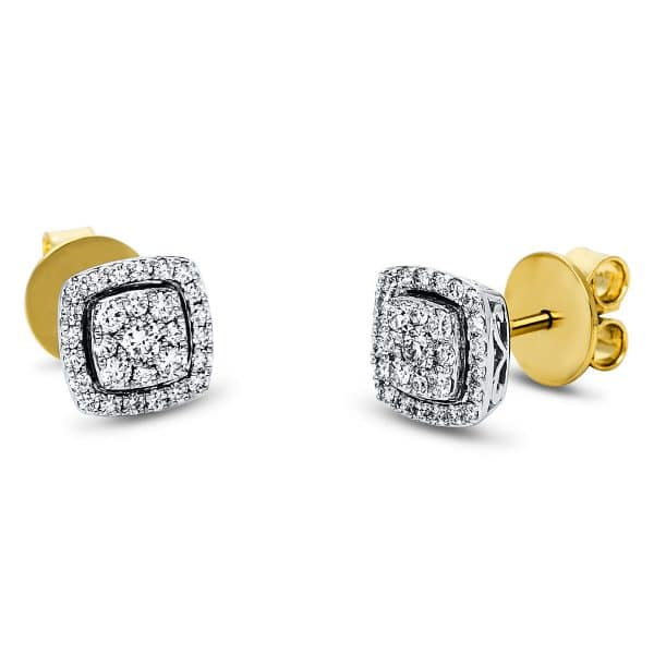 18 kt sárga arany / fehérarany steckeres 58 gyémánttal 2J543GW8-1
