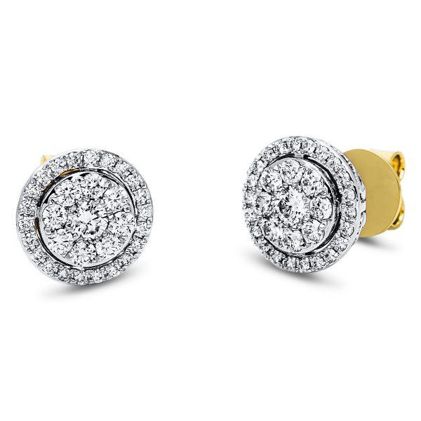 18 kt sárga arany / fehérarany steckeres 62 gyémánttal 2J547GW8-1