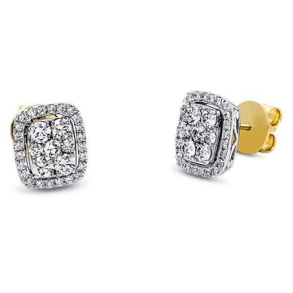 18 kt sárga arany / fehérarany steckeres 62 gyémánttal 2J550GW8-1