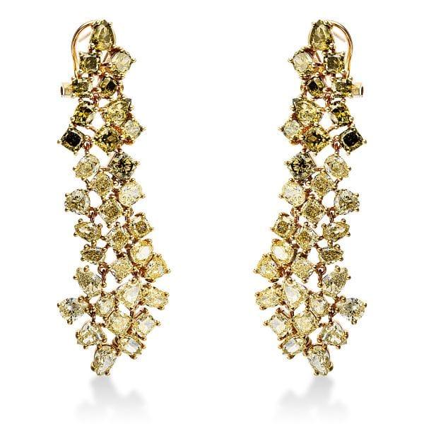 18 kt sárga arany fülbevaló 66 gyémánttal 2J439G8-1