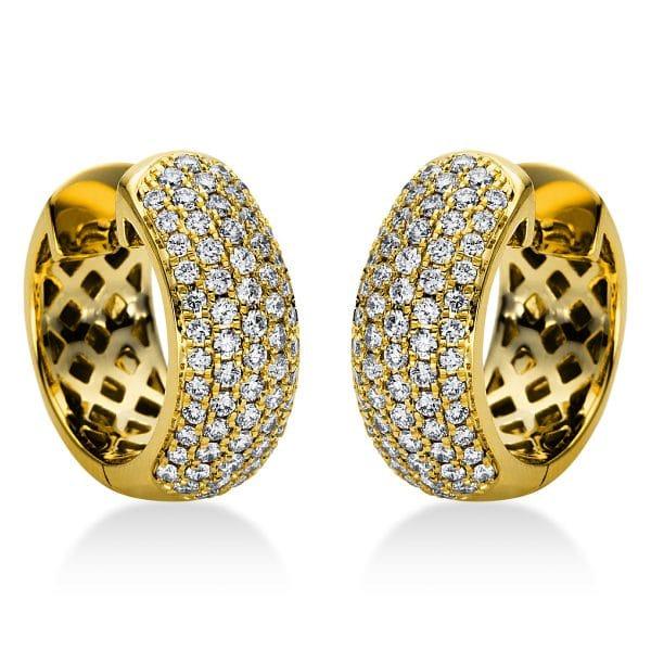 18 kt sárga arany karika és huggie 128 gyémánttal 2I969G8-2