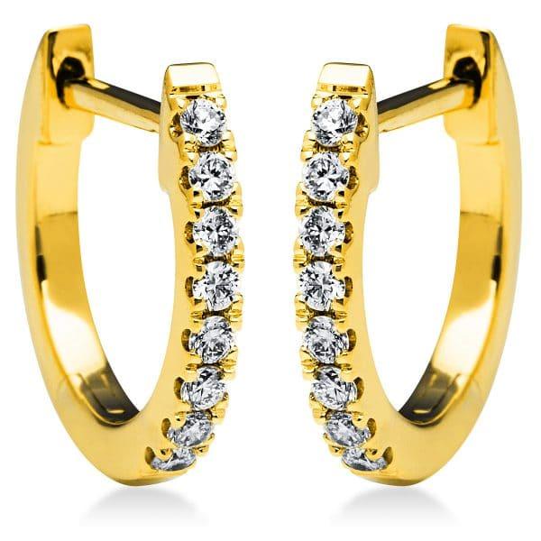 18 kt sárga arany karika és huggie 16 gyémánttal 2I823G8-2