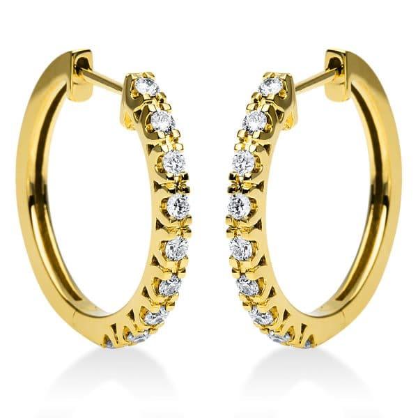 18 kt sárga arany karika és huggie 18 gyémánttal 2I974G8-2