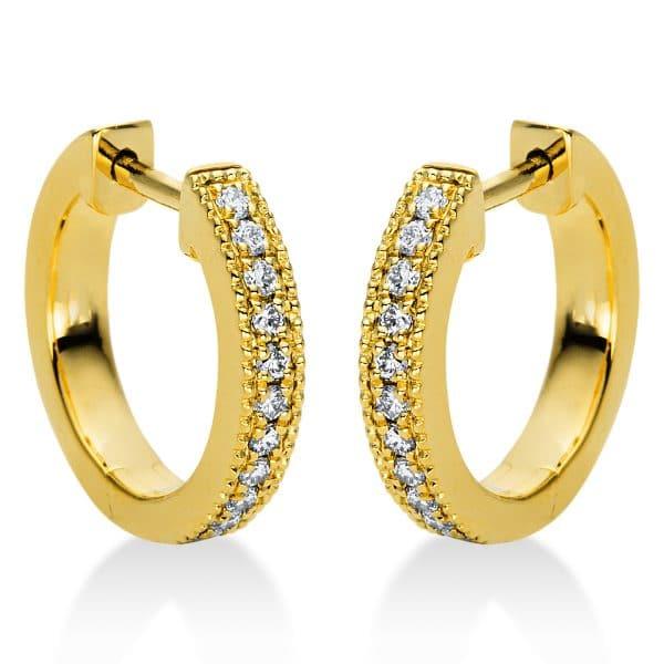 18 kt sárga arany karika és huggie 22 gyémánttal 2I984G8-1