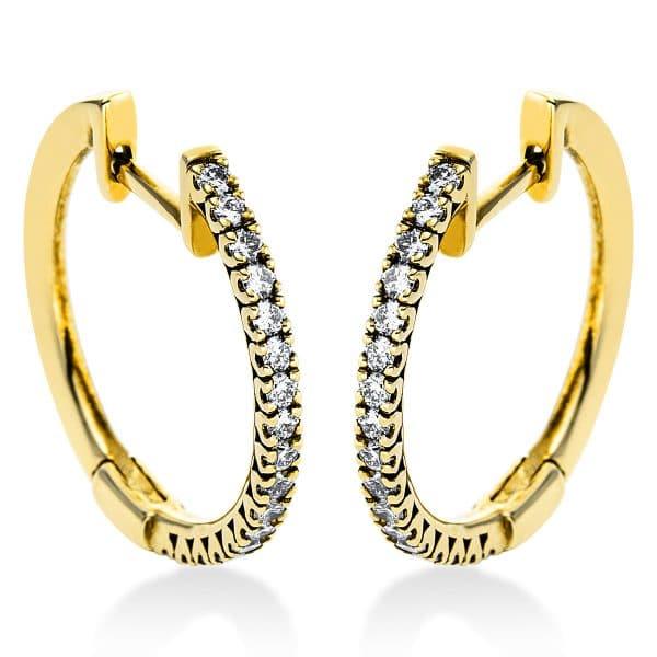 18 kt sárga arany karika és huggie 34 gyémánttal 2J437G8-1