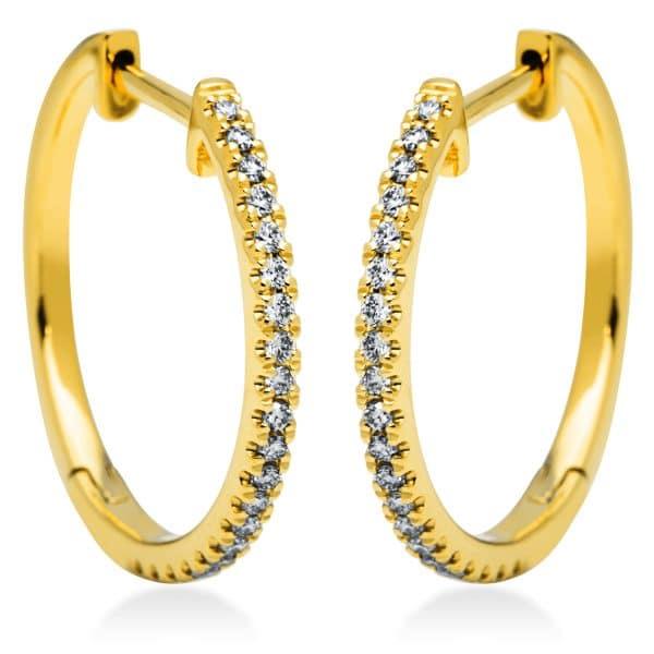 18 kt sárga arany karika és huggie 42 gyémánttal 2I834G8-1