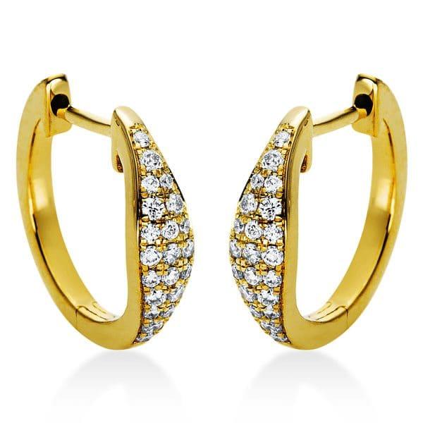 18 kt sárga arany karika és huggie 42 gyémánttal 2I973G8-2