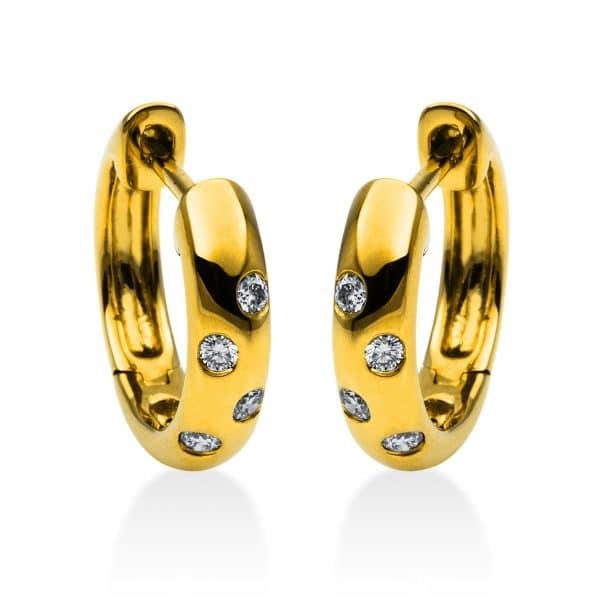 18 kt sárga arany karika és huggie 8 gyémánttal 2B831G8-2