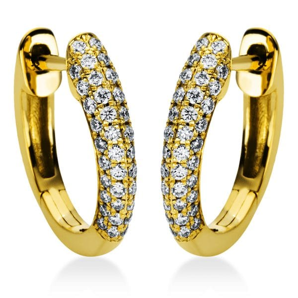 18 kt sárga arany karika és huggie 88 gyémánttal 2I981G8-2