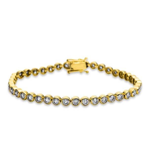 18 kt sárga arany karkötő 41 gyémánttal 5B692G8-1