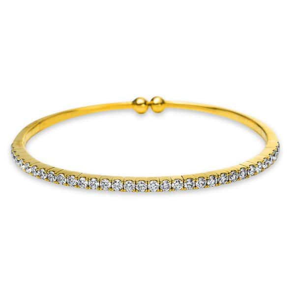 18 kt sárga arany karperec 33 gyémánttal 6A550G8-2