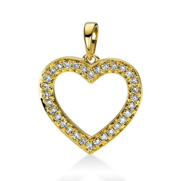 18 kt sárga arany medál 32 gyémánttal 3D814G8-1