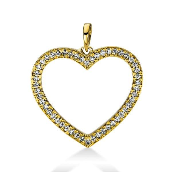 18 kt sárga arany medál 50 gyémánttal 3D815G8-2