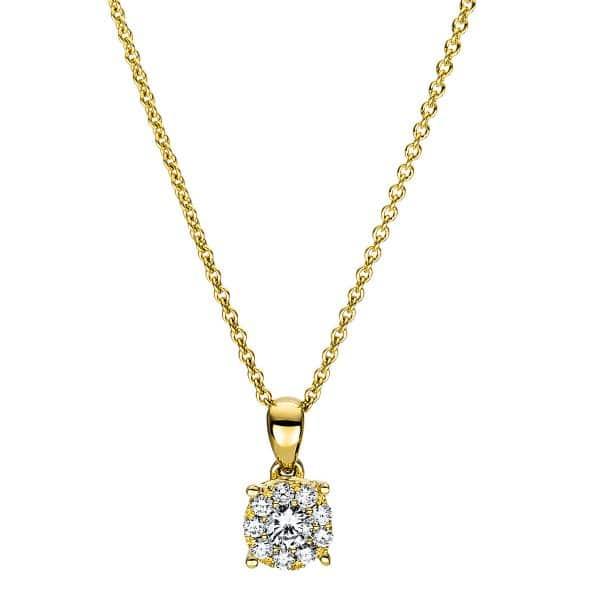 18 kt sárga arany nyaklánc 10 gyémánttal 4F455G8-1