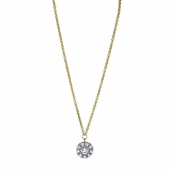 18 kt sárga arany nyaklánc 10 gyémánttal 4F630G8-1