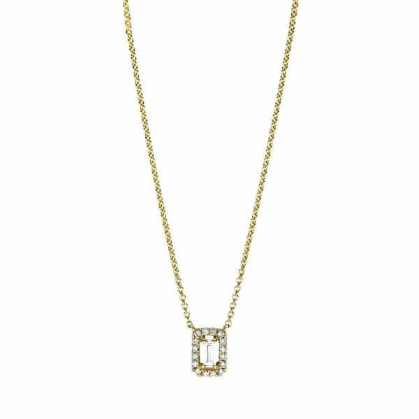 18 kt sárga arany nyaklánc 17 gyémánttal 4F659G8-1