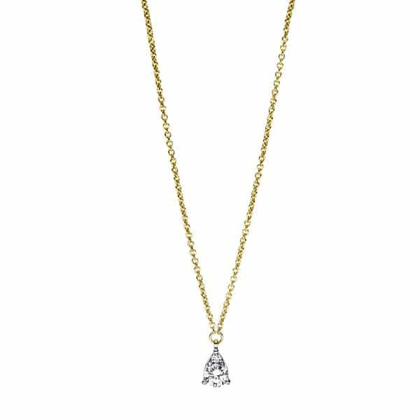 18 kt sárga arany nyaklánc 2 gyémánttal 4F381G8-1
