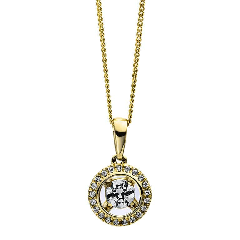 18 kt sárga arany nyaklánc 22 gyémánttal 4D355G8-2