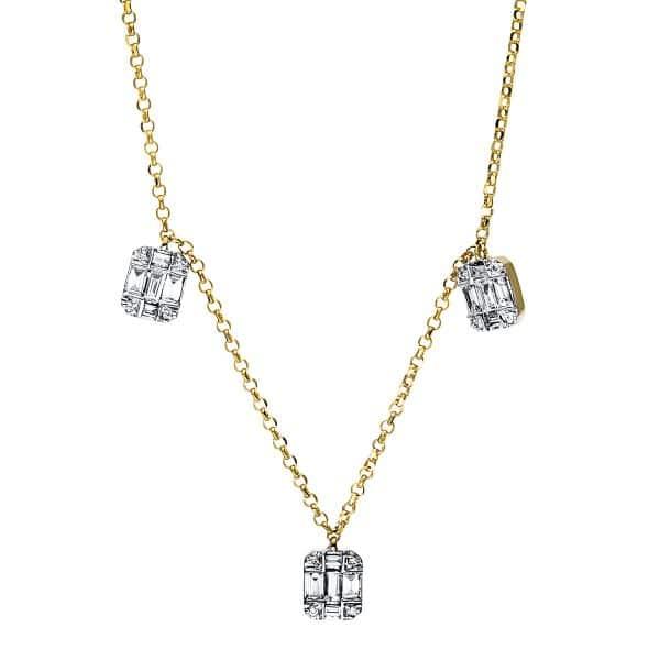 18 kt sárga arany nyaklánc 45 gyémánttal 4E326G8-1