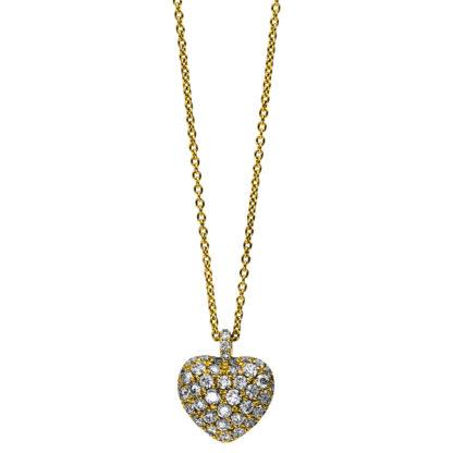 18 kt sárga arany nyaklánc 52 gyémánttal 4B998G8-1