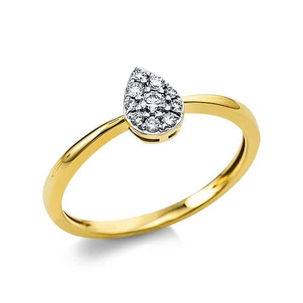 18 kt sárga arany pavé 10 gyémánttal 1V427G854-1
