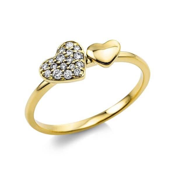 18 kt sárga arany pavé 17 gyémánttal 1V434G854-1